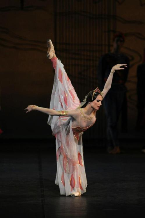 Svetlana Zakharova in La Bayadère with the Bayerisches Staatsballett. Photo (c) Charles Tandy.