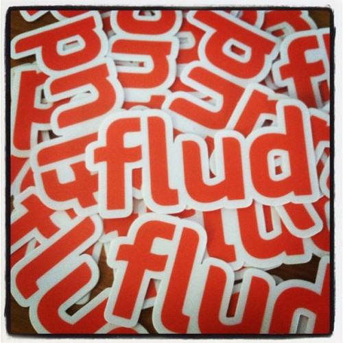 Giving #Flud #stickers and #tshirts to those who participate in our current #contest. Just go to Facebook.com/fludapp for details! #fludlife (Taken with Instagram)