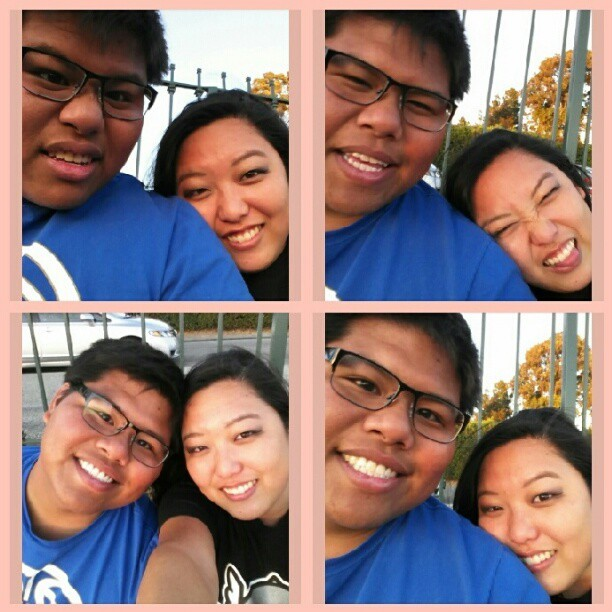 I've turned him into a #camerawhore too lol #selca #me #bf (Taken with Instagram)