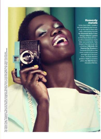 Tina Johnson for Glamour Magazine's Color Blocked Beauty Feature