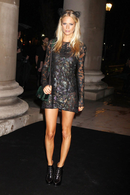 Poppy Delevingne - The little black jacket exhibition - London