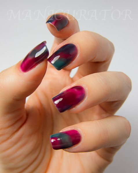 Stained glass nails (via Victoria V. | Beautylish)