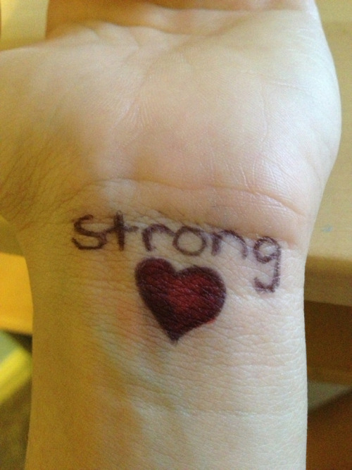 Stay strong   I look at this when I'm about to give in, for anything, and it picks me back up.
