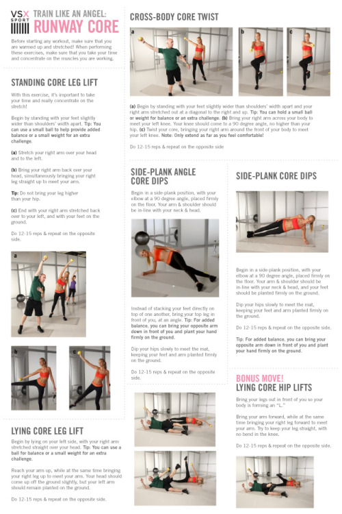 itstheskinny:  TRAIN LIKE AN ANGEL CORE WORKOUT