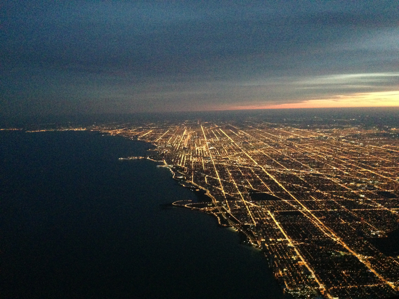 Climbing out of Chicago tonight.