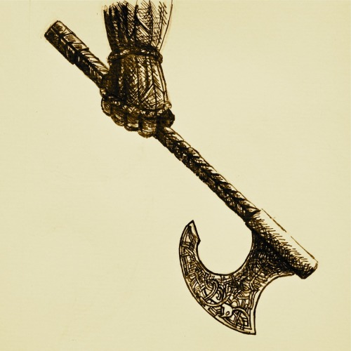 Another piece for the Hobbit art competition - Gloin's axe. Link to rate will be up shortly. Ink pen.