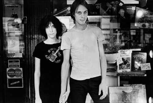 Patti Smith & Tom Verlaine, circa 1975.