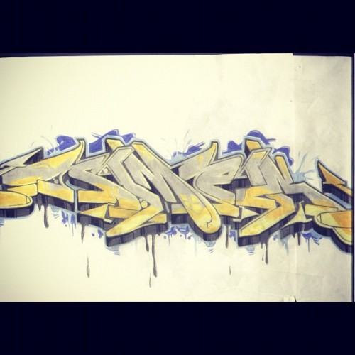 SMEK Tmi (my brother is ill) #SMEK #tmicrew #tmi #blackbook #graffiti #sketch #copic #art #drawing #letters #style (Taken with Instagram)
