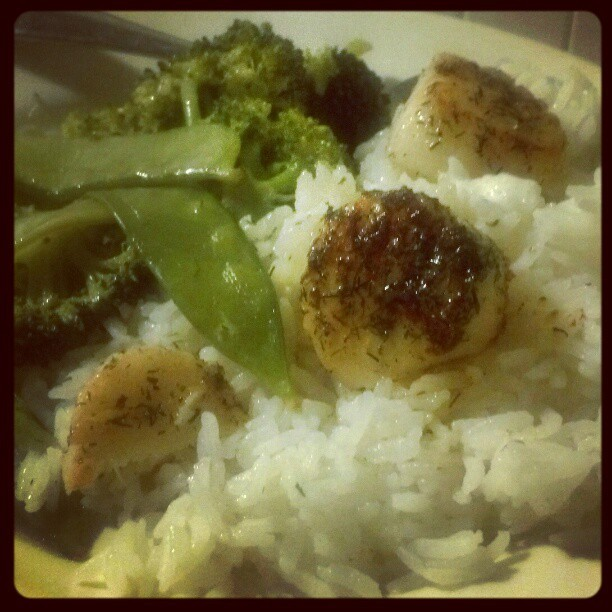 Seared #scallops #instagood #instafood #tasty #instagood #food #yum #food #foodporn  (Taken with Instagram)