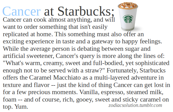 Cancer at Starbucks