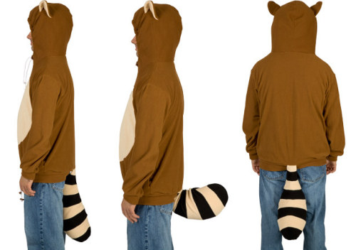 For when your shame has not yet hit bottom: The Mario Tanooki hoodie with wagging tail You know you want it. Product link