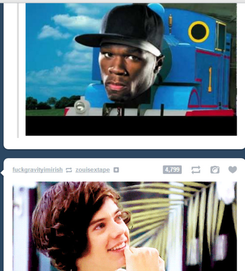 1dragecomics:  Harry is amused  I don't roll down that side of the train track for your information.