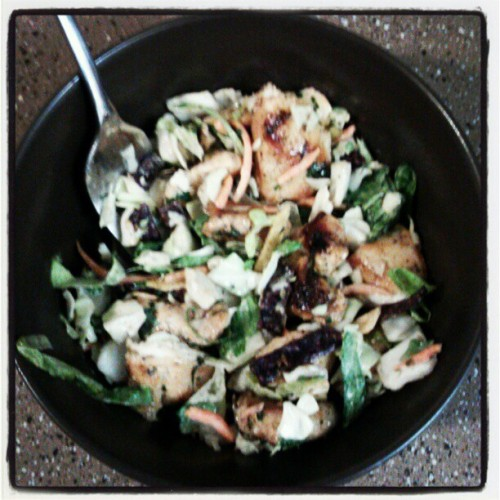 Made southwest chicken salad with cilantro dressing for #dinner ^_^ #tastesbetterthanitlooks #gotmyskillsfrommymama  (Taken with Instagram)