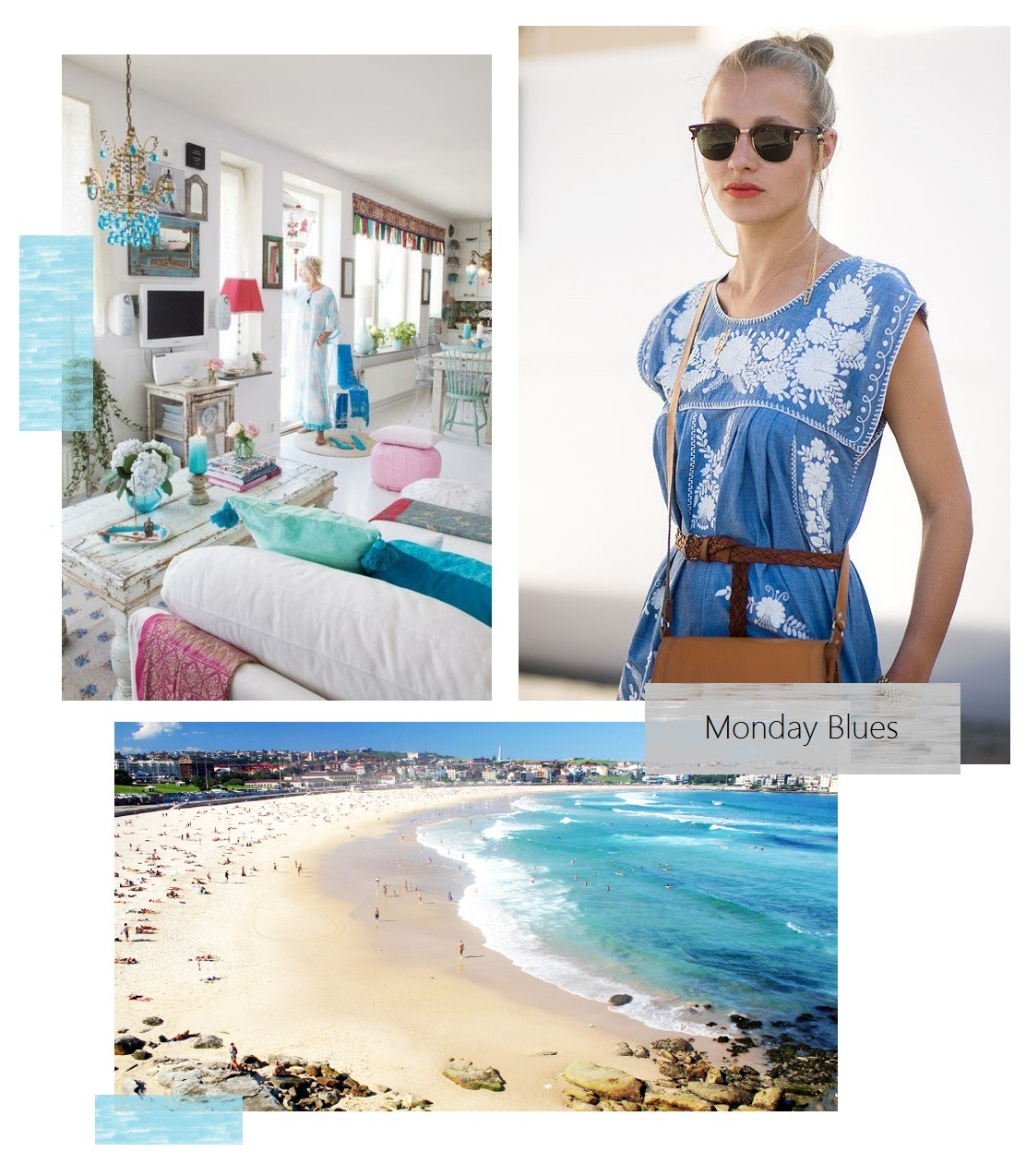 Monday Blues Must be the Indian summer we're having…hence the boho/beachy inspiration;)  Images: SC Home Design | Vanessa Jackman | Bondi Beach bnb