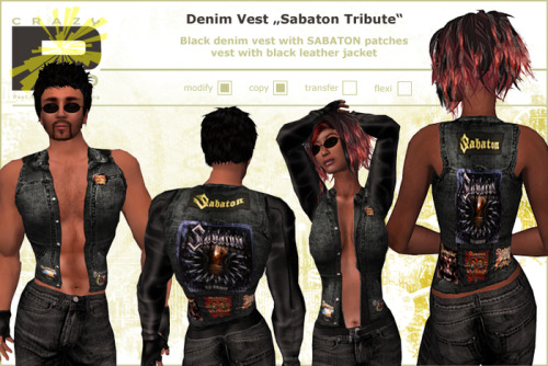 Sabaton gear in Second Life game