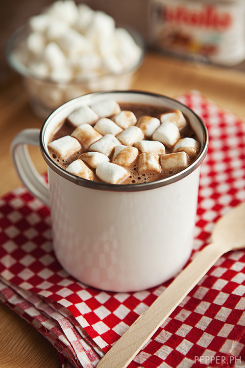 I'd love a cup of Nutella Hot Chocolate. How about you? RECIPE