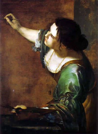 arrestomomentum:  Artemisia Gentileschi - Self-Portrait as the Allegory of Painting (1630)  Only a female painter in the Italian Renaissance could actually identify with the Allegory of Painting itself.
