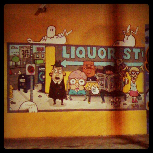 #street #art #melrose #Hollywood #mural #wheatpaste #la (Taken with Instagram)