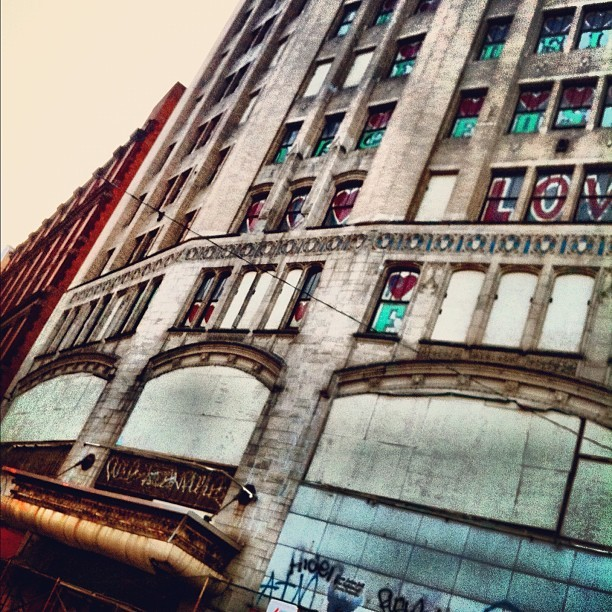 the #metropolitan. #detroit #urban #streetart  #love #architecture  (Taken with Instagram)