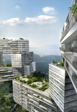 The Interlace Project by Oma The Interlace house design in Singapore is a mind-blowing project by Oma (Office for Metropolitan Architecture), and they just unveiled the latest plans about a month ago. This giant six-story complex will consist of 31 stacked apartment blocks with 170,000sqm of gross floor area for 1,040 apartments. [Strange, Stylish and Amazing Houses and Other Architectural Oddities]