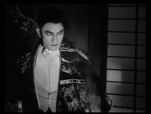 Sessue Hayakawa, one of the most popular of the silent film stars until the mid-1920's, in several of his roles. (if reading on the blog, click the edge of the photo to see additional shots.) The only lead male Asian actor of his time, he was cast in films that showed him to be [insert Asian stereotypes here] duplicitous, silent, manipulative, of artistic sensibility, and willing to sacrifice himself for money, passion, or love. He was quite sexy, with a still and smoldering presence, and was actually more popular among women than Valentino. Of his surviving films, The Cheat, directed by Cecil B. DeMille in 1915, was his most popular; this film features a near-rape scene that involves branding a woman so that she might belong to him. Women flocked to the film.Hayakawa got so tired of being negatively typecast that he formed his own film company; unfortunately, nearly all of these films have been lost. His best surviving film is The Dragon Painter, which has been released by Kino on DVD. A few biographical tidbits, apparently true: Sessue Hayakawa was descended from samurai. He tried to commit seppuku because he failed the Navy physical. After surviving, he went to the States to study and play football at the U. of Chicago. Later in life, he became a Zen master and even wrote a book about it.