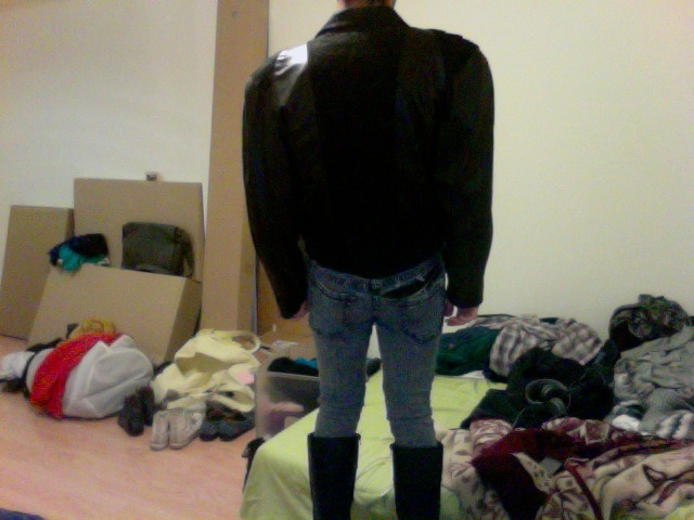 Another vintage (leather) jacket that I stole from my mama's closet