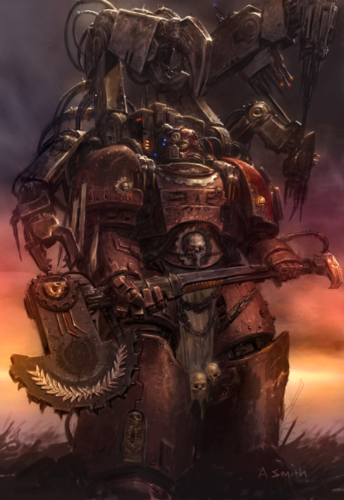coryx1988:  Techmarine Colored by ~MajesticChicken