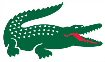 "Story Behind the Lacoste Crocodile The Lacoste crocodile logo originated with a dead alligator. René Lacoste, the brand's founder and a tennis star circa 1925, was walking the streets of Boston when he became transfixed by an alligator-skin suitcase in a store window. The French Davis Cup team captain promised he would buy Lacoste the bag if he won an upcoming match. He didn't win, but the story and his fierce play earned him the nickname ""the Crocodile"" in the press, which apparently couldn't keep its reptiles straight."