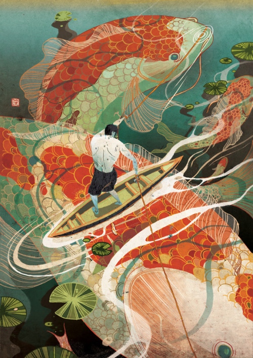 victongai:  Tough Calls Victo Ngai Latest piece for Plansponsor magazine about the tension in choosing -one needs to give up something in order to gain. Big big thanks to AD SooJin!   This appeared on my dashboard this morning, via the tirelessly interesting This Isn't Happiness tumblr, and holy moly Victo Ngai