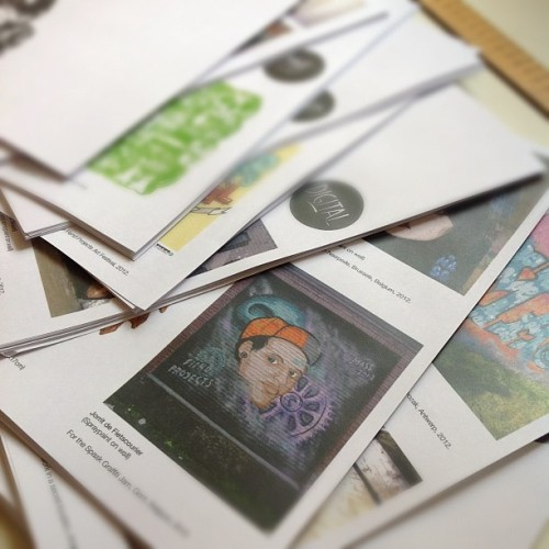 Back from the printers with new zine pages (2nd print) in preparation for my solo show opening next week @artistresidence #hongkong #art #zine #design #illustration #painting #streetart #graffiti #typography #print  (Taken with Instagram at Studio Mass)