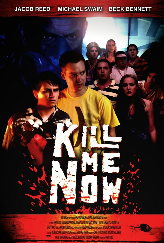 "THIS JUST IN: A date has been set for the official release of ""Kill Me Now""! Mark your calendars, Folks! December 5th, 2012 is the day this picture drops. For more information, read the following forum post from writer, Michael Swaim (originally posted at Cracked.com) and keep a watchful eye on the film's Facebook page! ""Hey folks! Michael here, from Those Aren't Muskets! and almost all the videos on this site. We've got our very first MOVIE coming out. It's a HORROR/COMEDY called ""Kill Me Now,"" and I think you're really going to like it. I wrote it, Abe shot it, and the cast is like a who's-who of internet sketch folks destined for fame. I'm talking MUSKETS! folks, GOOD NEIGHBOR in its entirety, Jacob Reed of TREMENDOSAUR, half of HORSEHEAD BUSINESSMAN and more.The movie will be released some time in DECEMBER, probably right around the APOCALYPSE. It's going to ultimately be available to everyone in the world as a direct download purchase, and we're trying to get it on Netflix Streaming and the iTunes store and all that good stuff, but we also hope to cram it into as many REAL THEATERS as possible using a service called Tugg.com. Tugg is a sort of Kickstarter for independent movies, and has had a lot of success getting indie movies (like BriTANicK's Searching for Sonny or Mike Birbiglia's Sleepwalk With Me, par example) screenings. That's where YOU come in. See how I capitalized 'YOU?' THAT'S HOW IMPORTANT YOU ARE TO THE SUCCESS OF THIS FILM. We're asking for people to VOLUNTEER, in this thread, to be PROMOTERS for the film in their hometown. Tugg works by crafting a deal between us and participating theaters across the country such that if we can pre-sell enough tickets for a showing on a given night at a given theater, they'll make it happen. PROMOTERS are folks who use whatever means they deem fit to try and get those pre-sales sold. AKA YOU!!!!!YOUR REWARDS: Anyone able to successfully promote the film and get it a showing in their area is entitled to 5% of the ticket proceeds, and will get to see the movie a MONTH EARLY, in November. We'll send you a private password and you're good to go.THINGS YOU SHOULD KNOW: You can do whatever you want to get the pre-sales number up, within all reasonable legal limits. You can team up with any number of folks from your area…our goal is just to target select theaters and make sure we reach those numbers. We'd rather 200 people sign up for one showing than 100 people sign up for two at a similar time or in a similar area. Of course, how you split your take is up to you. Also, if you're promoting a show in an area where some of the KMN cast members live, it's entirely possible we'll want to schedule a Q/A after the show, so this is also a chance to hang out with the cast if you're geographically lucky.IF YOU WANT IN: FIRST, post in this thread saying so, and what city and country you live in. I'm currently generating a list of theaters we'll be targeting, and I may ask if you want to team up with someone else on the thread. And it wouldn't hurt to go make a Tugg.com profile. THEN I'll contact you via PM and let you know which date, time and place we'd like you to promote for (or we'll work it out with you), and we'll be off to the metaphorical races.Anyone who just wants to keep up with the film's release schedule or see set photos and whatnot, just search ""KILL ME NOW"" on FACEBOOK. YOU KNOW, FACEBOOK?Thanks for your time! Please give us more of it!"""