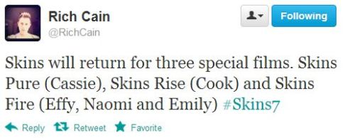 Skins 7 announcement. Read Channel 4's press release here.