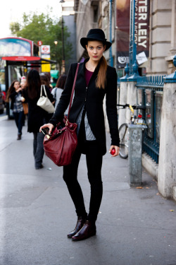 topshop:  One word: Intense. This noir oxblood combination makes our fashionhearts jump high!