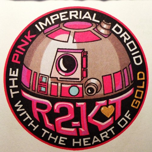 The Pink Imperial Droid with the Heart of Gold. #starwars  (Wurde mit Instagram aufgenommen)