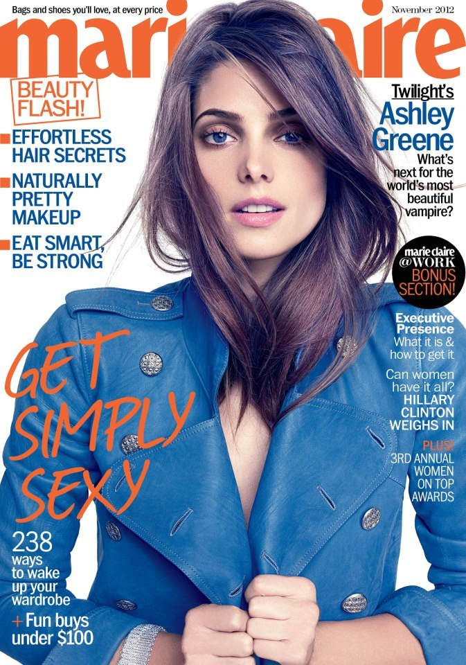 Ashley Greene - Marie Claire - November 2012