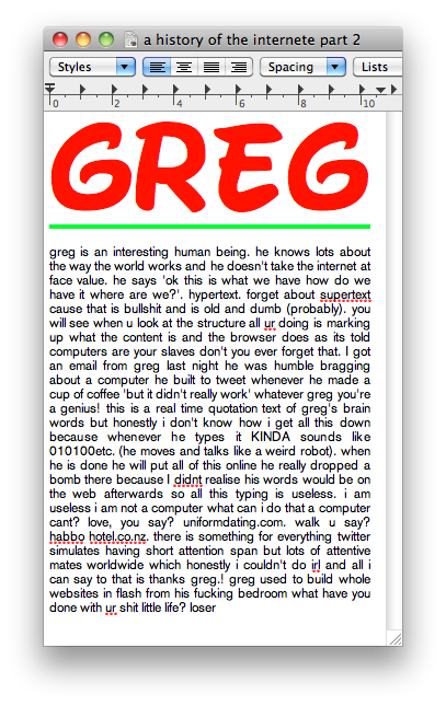 kiatas:  greg hits us with another truth nugget. FML!