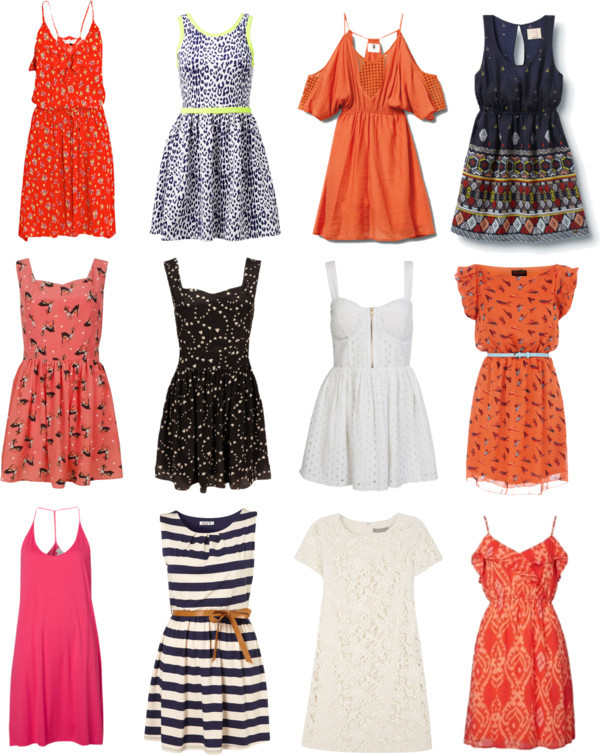 Summer dresses by thepolyvorecollection featuring a sleeveless dressRebecca Taylor sleeveless dress / Jigsaw lace summer dress, $135 / Forever New print dress, $92 / Quiksilver summer dress / Print dress, $72 / Summer beach dress, $61 / Quiksilver print dress / Dorothy Perkins orange summer dress / Wal G striped summer dress, $47 / Miso print dress, $16