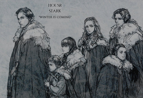 galleryofthrones:  house stark by ~aprilis420