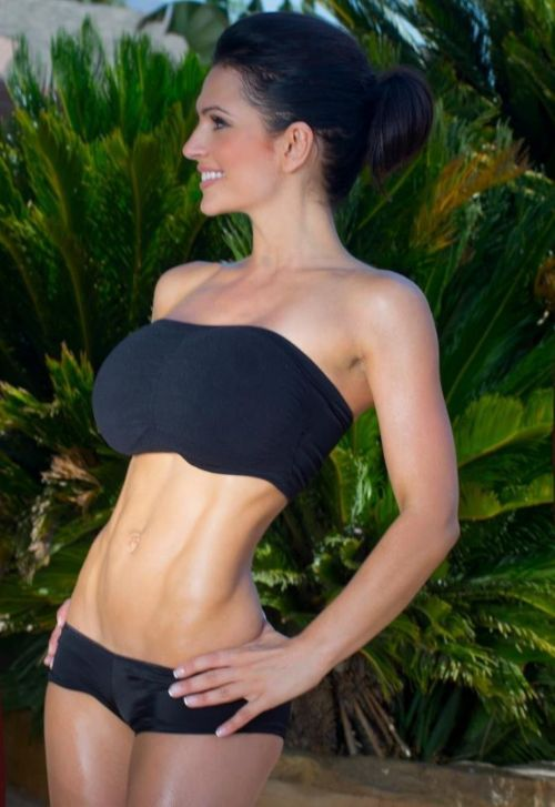 beautifulcurve:  denise milani - trimmed and toned