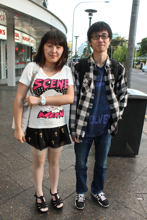 Names: Monica and Ryan What you're wearing: clothes from japanese shops!
