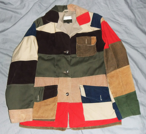 Mister Jalopy's quest for a patchwork hunting jacket is stymied at every turn. Even when he tries to buy a ladies' version that's too small for him.