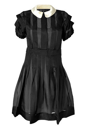 dollymacabre:   MARC BY MARC JACOBS Black Silk Organza Ansastasia Dress  Oh my goodness.