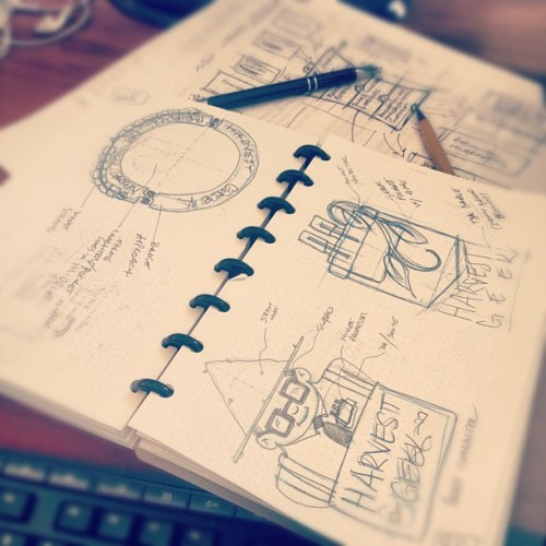 simonh:  Branding sketches 1/2 (Pris avec Instagram à Studio Ace of Spade headquarters)