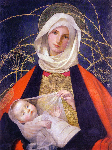 masterpiecedaily:  Marianne Stokes Madonna and Child 1907-08