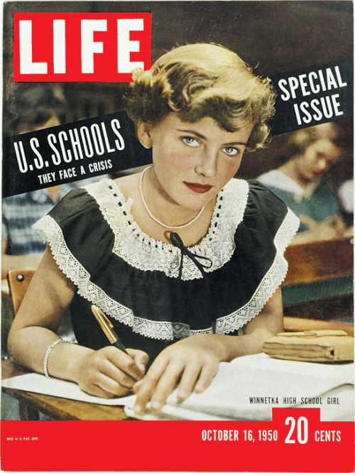life:  On this day in LIFE magazine — October 16, 1950: U.S. Schools: They face a crisis See related photos here.