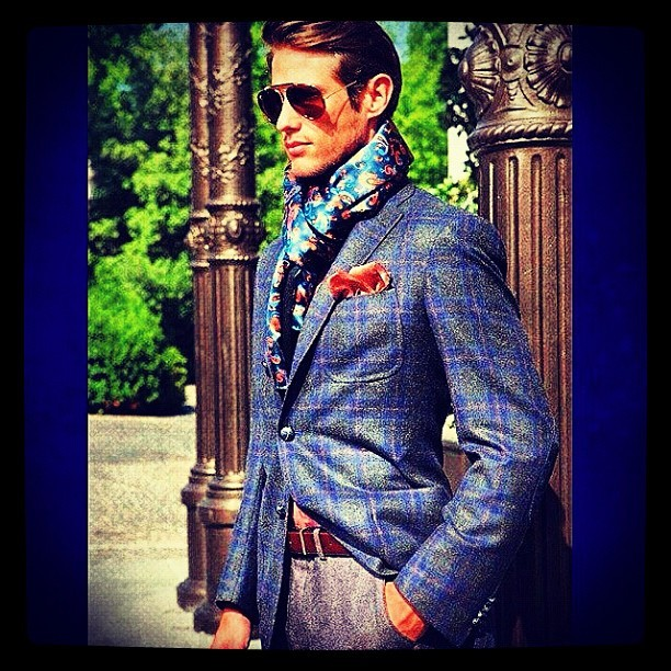 #TEXTURES & #PRINTS. #Mens #Style #Sharp #Suit #Classic #Elegance #Fashion #Mix  (Taken with Instagram)