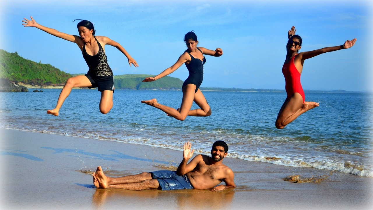 Jumping for JoyGokarna, IndiaSometimes the only way to express one's happiness during a day at the beach is for a jumping sessionParticipation by Jerry R.