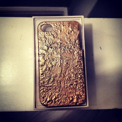 My gold leaf iPhone case. by signeferfuson