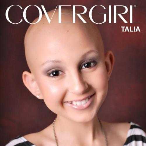 Last month on The Ellen DeGeneres Show, they made 13-year-old makeup artist Talia Castellano an honorary COVERGIRL. 'Reblog' if you're inspired by this amazing young woman, who is battling two types of cancer.