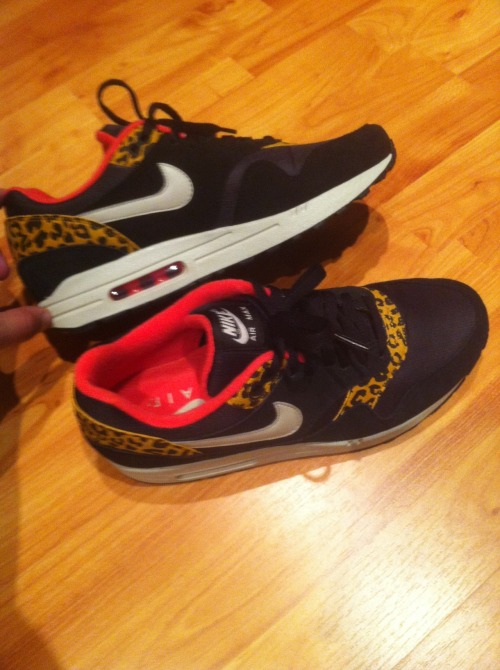 fresh-arab:  My new pair of Nike Air Max 1 Leopard Pack